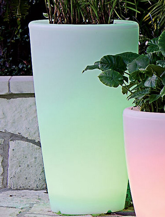Solar Illuminated ContemporaryPlanter