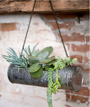 Galvanized Hanging Planter